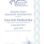 certyfikat - krajowa rada doradców podatkowych - biuroefka.pl